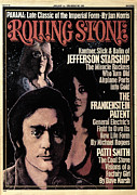 Airplane Prints - Rolling Stone Cover - Volume #203 - 1/1/1976 - Jefferson Airplane Print by Greg Scott