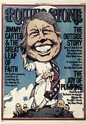 Carter Metal Prints - Rolling Stone Cover - Volume #214 - 6/3/1976 - Jimmy Carter Metal Print by Greg Scott