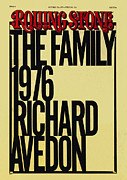 Rollingstone Posters - Rolling Stone Cover - Volume #224 - 10/21/1976 - Richard Avedons Portfolio The Family 1976 Poster by Elizabeth Paul