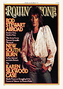 Stewart Metal Prints - Rolling Stone Cover - Volume #230 - 1/13/1977 - Rod Stewart Metal Print by David Montgomery
