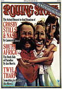 Crosby Prints - Rolling Stone Cover - Volume #240 - 6/7/1977 - Crosby, Stills and Nash Print by Robert Grossman