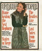 Diane Framed Prints - Rolling Stone Cover - Volume #242 - 6/30/1977 - Diane Keaton Framed Print by Hiro
