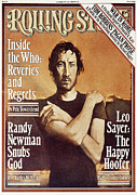 Pete Prints - Rolling Stone Cover - Volume #252 - 11/17/1977 - Pete Townshend Print by Daniel Maffia