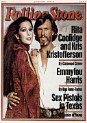 Rita Acrylic Prints - Rolling Stone Cover - Volume #259 - 2/23/1978 - Rita Coolidge and Kris Kristopherson Acrylic Print by Francesco Scavullo