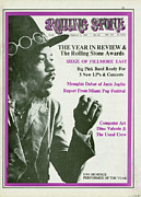 Roll Framed Prints - Rolling Stone Cover - Volume #26 - 2/1/1969 - Jimi Hendrix Framed Print by Baron Wolman