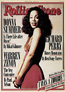 Donna Framed Prints - Rolling Stone Cover - Volume #261 - 3/23/1978 - Donna Summer Framed Print by Brian Leatart