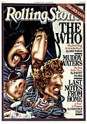 Featured Framed Prints - Rolling Stone Cover - Volume #275 - 10/5/1978 - The Who Framed Print by Robert Grossman