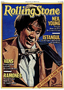 Neil Young Prints - Rolling Stone Cover - Volume #284 - 2/8/1979 - Neil Young Print by Julian Allen