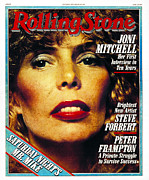 Featured Acrylic Prints - Rolling Stone Cover - Volume #296 - 7/26/1979 - Joni Mitchell Acrylic Print by Norman Seeff