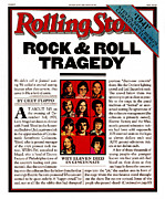 Concert Photo Acrylic Prints - Rolling Stone Cover - Volume #309 - 1/24/1980 - The Who Concert Tragedy Acrylic Print by Unknown