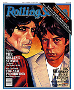 Mick Jagger Art - Rolling Stone Cover - Volume #324 - 8/21/1980 - Mick Jagger and Keith Richards by Julian Allen