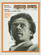 Chuck. Rock Prints - Rolling Stone Cover - Volume #35 - 6/14/1969 - Chuck Berry Print by Baron Wolman