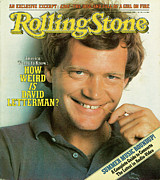 David Metal Prints - Rolling Stone Cover - Volume #371 - 6/10/1982 - David Letterman Metal Print by Herb Ritts