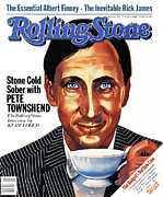 Pete Prints - Rolling Stone Cover - Volume #372 - 6/24/1982 - Pete Townshend Print by Julian Allen