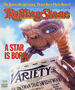 Featured Prints - Rolling Stone Cover - Volume #374 - 7/22/1982 - ET Print by Aaron Rapoport