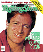 Williams Photo Framed Prints - Rolling Stone Cover - Volume #378 - 9/16/1982 - Robin Williams Framed Print by Bonnie Schiffman