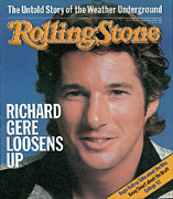 Richard Framed Prints - Rolling Stone Cover - Volume #379 - 9/30/1982 - Richard Gere Framed Print by Herb Ritts