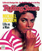 Michael Jackson Prints - Rolling Stone Cover - Volume #389 - 2/17/1983 - Michael Jackson Print by Bonnie Schiffman