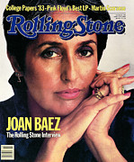Joan Posters - Rolling Stone Cover - Volume #393 - 4/14/1983 - Joan Baez Poster by David Montgomery