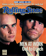 Men Framed Prints - Rolling Stone Cover - Volume #398 - 6/24/1983 - Men at Work Framed Print by Aaron Rapoport