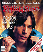 Featured Framed Prints - Rolling Stone Cover - Volume #404 - 9/15/1983 - Jackson Browne Framed Print by Aaron Rapoport
