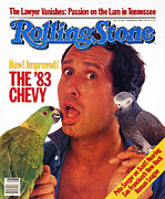 Chevy Framed Prints - Rolling Stone Cover - Volume #406 - 10/13/1983 - Chevy Chase Framed Print by Bonnie Schiffman