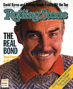 Featured Acrylic Prints - Rolling Stone Cover - Volume #407 - 10/27/1983 - Sean Connery Acrylic Print by David Montgomery