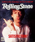 Rolling Stone Metal Prints - Rolling Stone Cover - Volume #409 - 11/24/1983 - Mick Jagger Metal Print by William Coupon