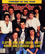 Concert Photo Acrylic Prints - Rolling Stone Cover - Volume #413 - 1/19/1984 - ARMs Concert Acrylic Print by Bonnie Schiffman
