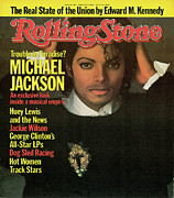 Michael Jackson Photo Framed Prints - Rolling Stone Cover - Volume #417 - 3/15/1984 - Michael Jackson Framed Print by Matthew Rolston