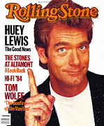 Rollingstone Posters - Rolling Stone Cover - Volume #430 - 9/13/1984 - Huey Lewis  Poster by Aaron Rapoport