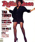 Tina Turner Prints - Rolling Stone Cover - Volume #432 - 10/11/1984 - Tina Turner Print by Steve Meisel