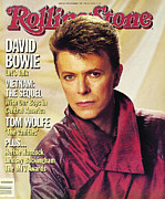 David Metal Prints - Rolling Stone Cover - Volume #433 - 10/25/1984 - David Bowie Metal Print by Greg Gorman