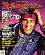 Springsteen Framed Prints - Rolling Stone Cover - Volume #436 - 12/6/1984 - Bruce Springsteen Framed Print by Aaron Rapoport