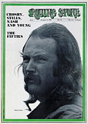David Metal Prints - Rolling Stone Cover - Volume #44 - 10/18/1969 - David Crosby Metal Print by Robert Altman