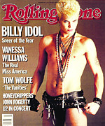 Featured Framed Prints - Rolling Stone Cover - Volume #440 - 1/31/1985 - Billy Idol Framed Print by E.J. Camp