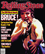 Bruce Springsteen Framed Prints - Rolling Stone Cover - Volume #442 - 2/28/1985 - Bruce Springsteen Framed Print by Neal Preston