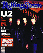 U2 Photo Framed Prints - Rolling Stone Cover - Volume #443 - 3/15/1985 - U2 Framed Print by Rebecca Blake