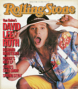 Featured Framed Prints - Rolling Stone Cover - Volume #445 - 4/11/1985 - David Lee Roth Framed Print by Bradford Branson