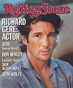 Richard Framed Prints - Rolling Stone Cover - Volume #446 - 4/25/1985 - Richard Gere Framed Print by Herb Ritts