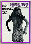 Featured Framed Prints - Rolling Stone Cover - Volume #45 - 11/1/1969 - Tina Turner Framed Print by Robert Altman
