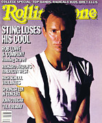 Featured Acrylic Prints - Rolling Stone Cover - Volume #457 - 9/26/1985 - Sting Acrylic Print by Eric Boman