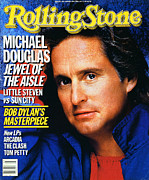 Douglas Prints - Rolling Stone Cover - Volume #465 - 1/16/1986 - Michael Douglas Print by E.J. Camp