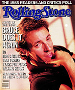 Bruce Springsteen Framed Prints - Rolling Stone Cover - Volume #468 - 2/27/1986 - Bruce Springsteen Framed Print by Aaron Rapoport