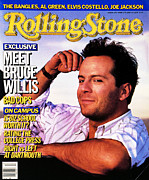 Featured Prints - Rolling Stone Cover - Volume #470 - 3/27/1986 - Bruce Willis Print by Bonnie Schiffman
