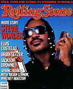 Rolling Stone Magazine Art - Rolling Stone Cover - Volume #471 - 4/10/1986 - Stevie Wonder by Mark Hanauer