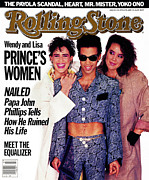 Prince Framed Prints - Rolling Stone Cover - Volume #472 - 4/24/1986 - Prince with Lisa and Wendy Framed Print by Jeff Katz