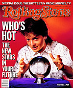 Michael Photo Prints - Rolling Stone Cover - Volume #474 - 5/22/1986 - Michael J. Fox Print by Chris Callis