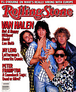 Van Photo Framed Prints - Rolling Stone Cover - Volume #477 - 7/3/1986 - Van Halen Framed Print by Deborah Feingold