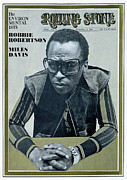 Featured Framed Prints - Rolling Stone Cover - Volume #48 - 12/13/1969 - Miles Davis Framed Print by Unknown